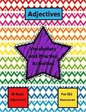 Beginner Adjective Activities for ELL Newcomers