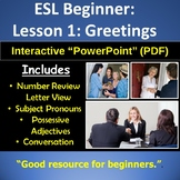 Adult ESL: Beginner ESL: Introductions and Greetings