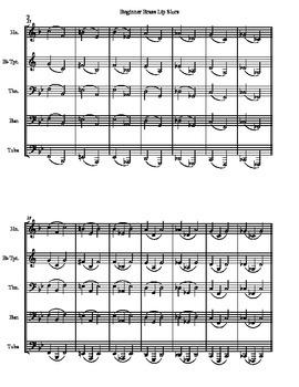 Beginner Brass Lip Slurs (Score & Parts)