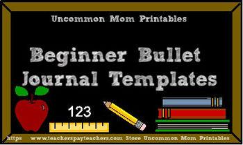 Beginner Bullet Journal Templates Bundle