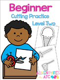 Beginner Cutting Practice Worksheets - Level 2