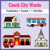 Beginner Czech: City Words ☆no prep☆ printables, quizes, activities and more