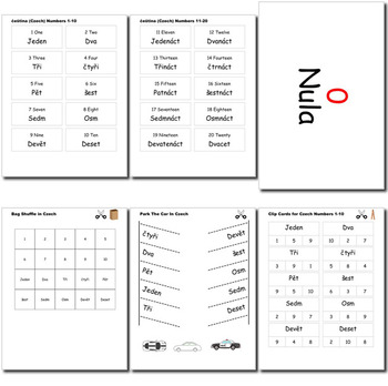 Beginner Czech: Numbers - ☆no prep☆ printables, quizes, activities and more