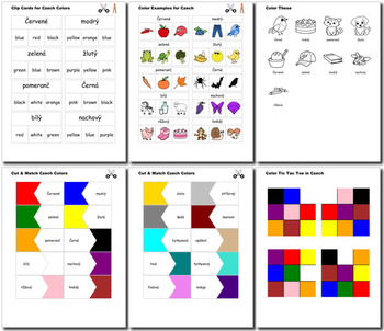 Beginner Czech: colors - ☆no prep☆ printables, quizes, activities and more