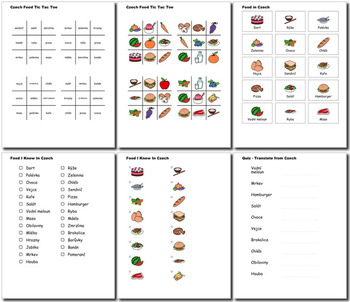 Beginner Czech: food - ☆no prep☆ printables, quizes, activities and more
