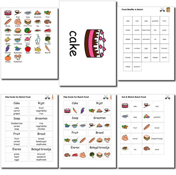 Beginner Dutch: food - ☆no prep☆ printables, quizes, activities and more