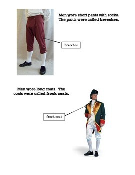 Beginner ELL Book on Clothes in Colonial America