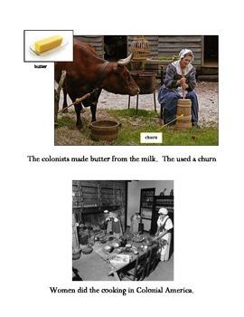 Beginner ELL Book on Food in Colonial America