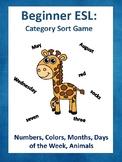 Beginner ESL: Category Sort Game
