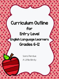 Beginner English Language Learners Curriculum Outline for Grades 6-12