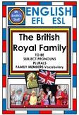 English - EFL / ESL - TO BE, Subject Pronouns and Regular VERBS