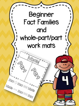 Beginner Fact Families and Work Mats