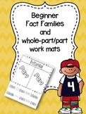 Beginner Fact Families and Work Mats