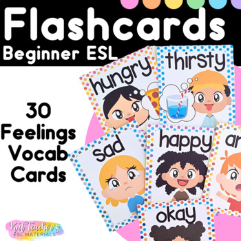 photograph about Feelings Cards Printable named Rookie Inner thoughts Flashcards for ESL College students and Younger Students