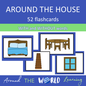 ESL Beginner Vocabulary: Flashcards: Household Items