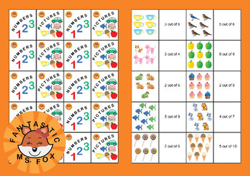 Beginner Fractions: Identify Parts of Collections (Matching Game)