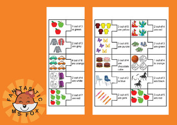 Beginner Fractions: Identify Parts of Collections Puzzle