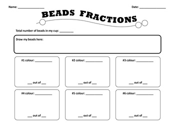 Beginner Fractions: Identify Parts of Collections with Beads