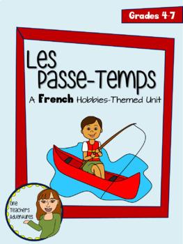 Beginner French 3-Unit Bundle - Community, Food, Hobbies - Grade 4-7
