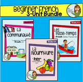 Beginner French 3-Unit Bundle - Community, Food, Hobbies - Grade 4-7