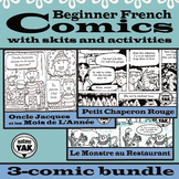 Beginner French Comics with Skits and Activities