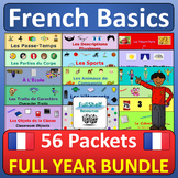 Beginner French Full Year MEGA BUNDLE