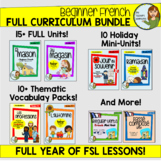 Beginner French Growing Bundle - FULL YEAR of Activities!!