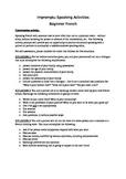 Beginner French Impromptu Speaking Activities 1B