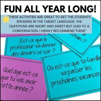 Beginner French speaking task cards - BUNDLED! 8 activities