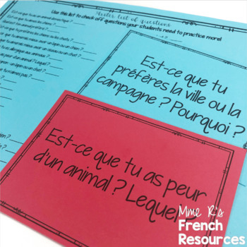 French speaking prompts for beginners - bundled
