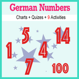 Beginner German: Numbers - ☆no prep☆ printables, quizes, a