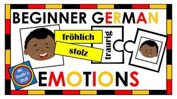 Beginner German - Vocabulary - Feelings and Emotions
