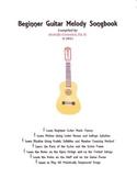 Beginner Guitar Melody Songbook