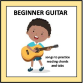 Beginner Guitar - songs to practice reading chords and tabs