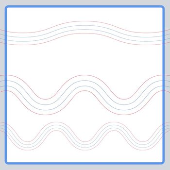 Beginner Handwriting Lines - Wavy Lines for Creative Writing or Poetry