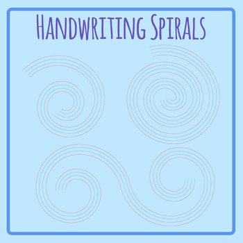 Beginner Handwriting Lines in Spirals for Poetry Writing or Creative Writing