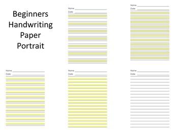 Beginner's Handwriting Paper (Highlight, Highlights, Highlighted) (OT)