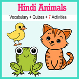 Beginner Hindi: Animals - ☆no prep☆ printables, quizes, activities and more