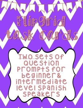 Beginner & Intermediate Spanish Question Prompts!