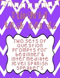 Beginner & Intermediate Spanish Question Prompts!