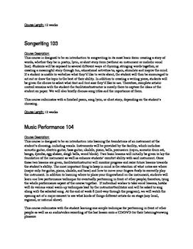 Beginner, Intermediate, and Advanced Music Curriculum