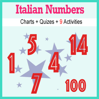 Beginner Italian: Numbers - ☆no prep☆ printables, quizes, activities and more