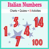 Beginner Italian: Numbers - ☆no prep☆ printables, quizes,