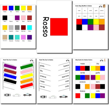 Beginner Italian: colors - ☆no prep☆ printables, quizes, activities and more