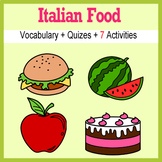 Beginner Italian: food - ☆no prep☆ printables, quizes, act