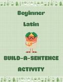 Beginner Latin Build-a-Sentence Activity