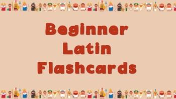 Beginner Latin Flashcards