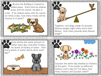 Word Problems - Multiplication and Division Facts