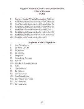 Beginner Mariachi Guitar/Vihuela Resource Book