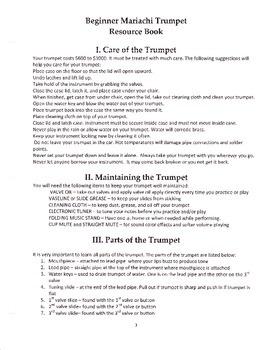 Beginner Mariachi Trumpet Resource Book